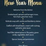 New Years menu Skipass hotel and restaurant