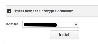 install lets enrypt