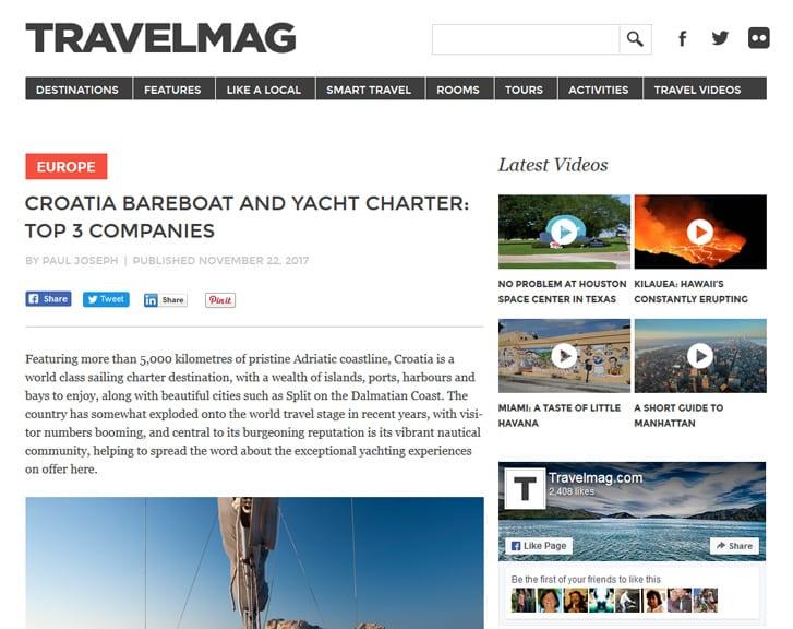 Top 3 yacht charter companies in croatia