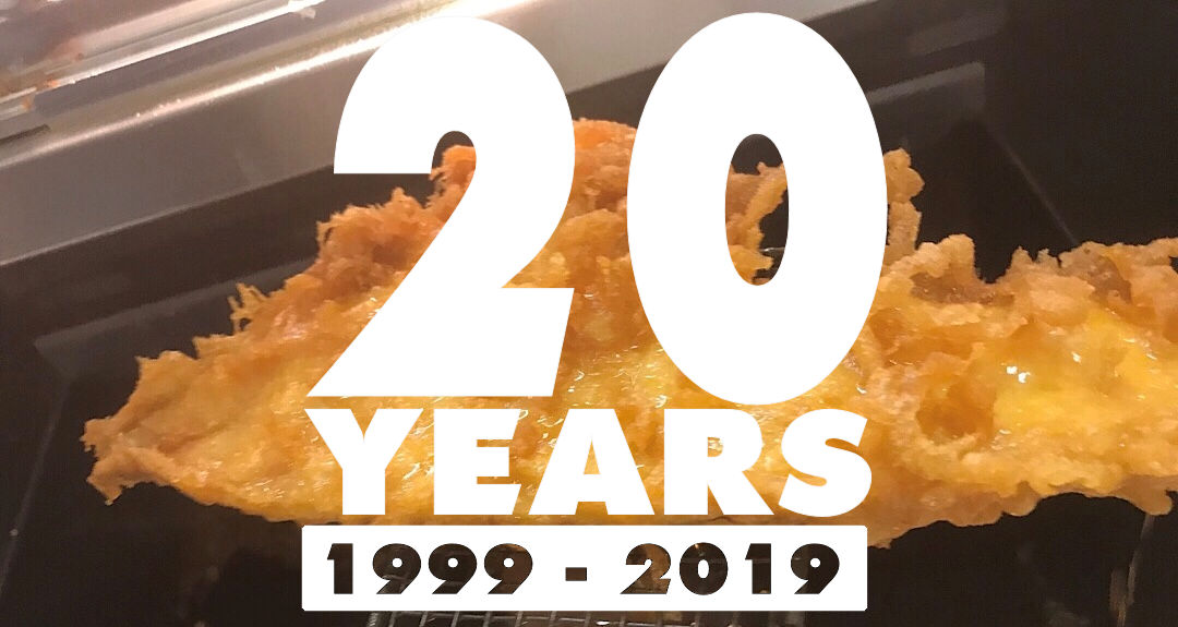 Andrew's 20 Year Work  Anniversary and Seafood Week!