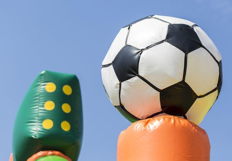 Voetbal Run 17 meter