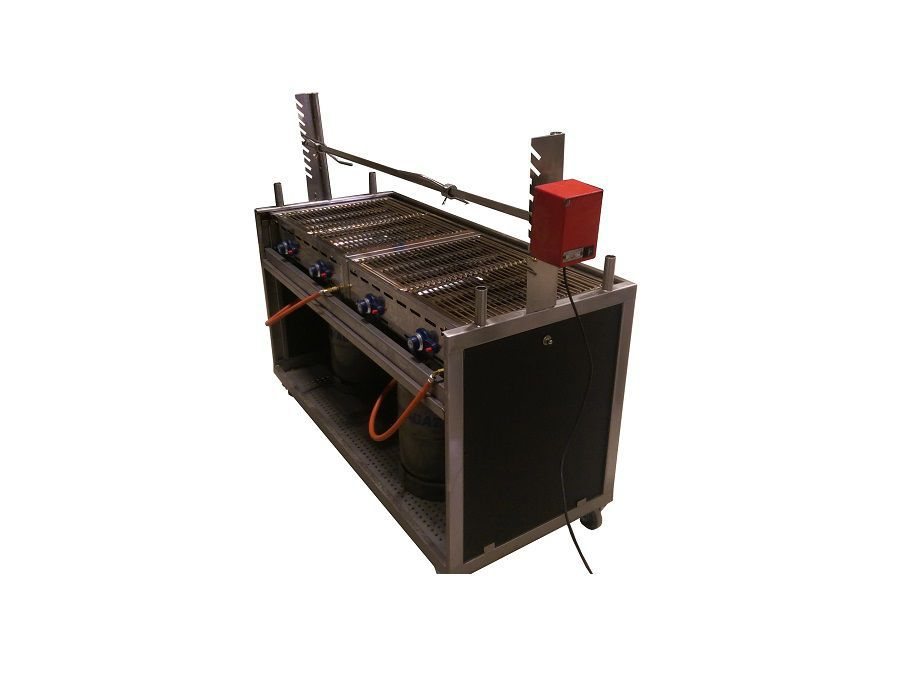Barbecue 4x 1/1 GN cm incl. spit