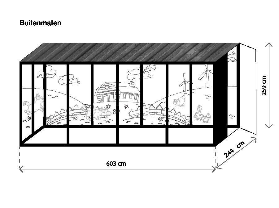 Glazenhuis container