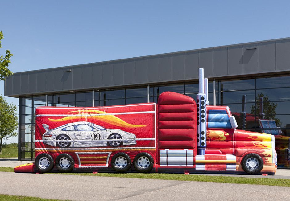 Vrachtwagen hindernisbaan 14 meter