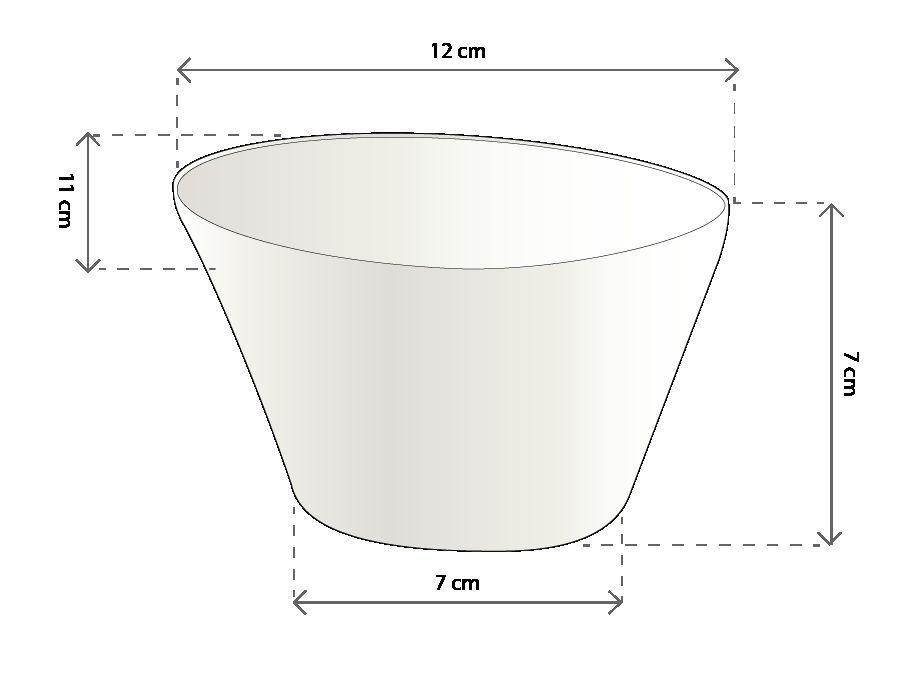 Schaal rond / soepkom Trendy 12 cm