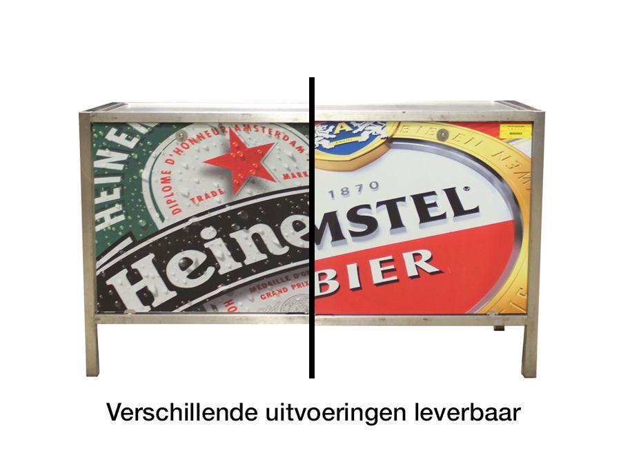 Uitgiftebar met reclame
