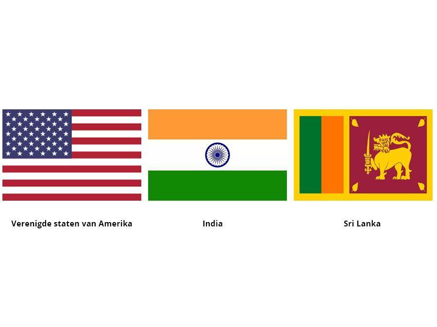 Landen vlaggen – Wereld