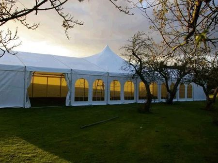 Alu-frame tent 10 meter breed – high peak
