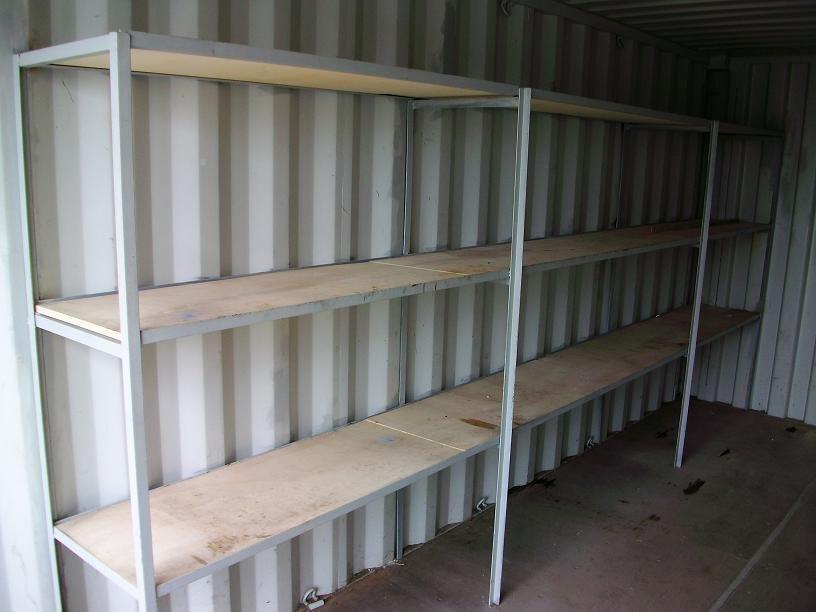 Stelling t.b.v. opslagcontainer 20 ft