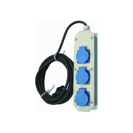 Verlengkabel 10 mtr. – 230V – incl. 3 stopcontacten