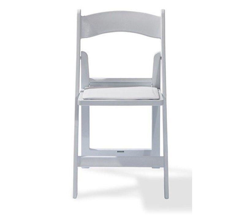 Wedding chair wit houtlook (aanbieding)