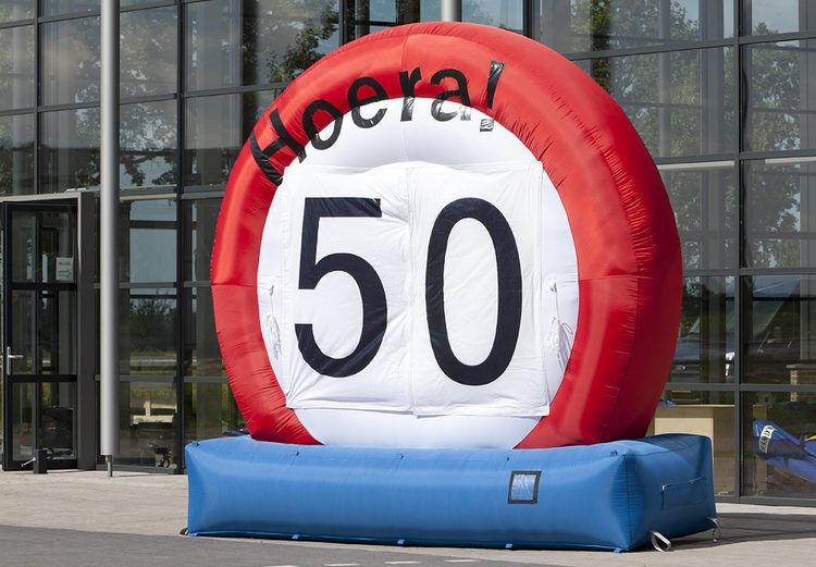 Opblaasbaar verkeersbord –  0-99 jaar