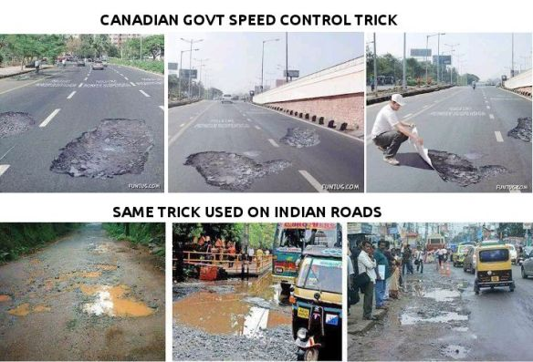 Canadian Govt Speed Control Trick Applied on Indian Roads