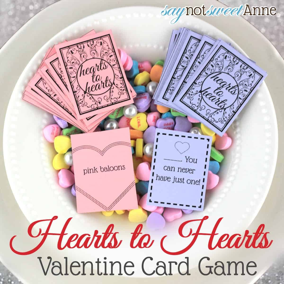 Hearts To Hearts A Printable Hearts Card Game For