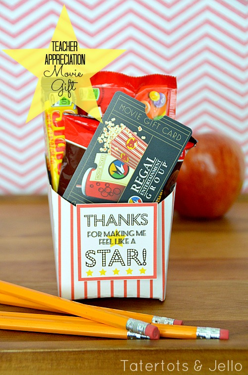 End of the Year Teacher Gift: Movie Card Gift Idea and ...