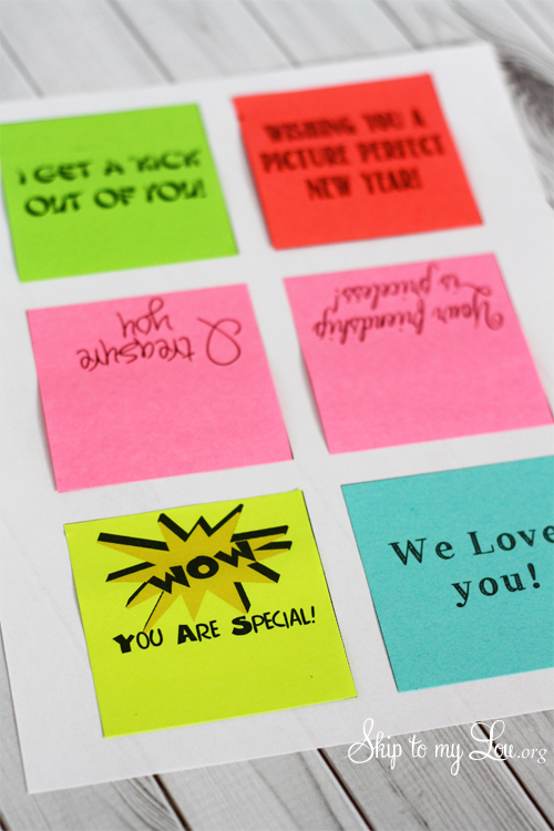 How To Print On Post It Notes Clever Saying Gift Skip