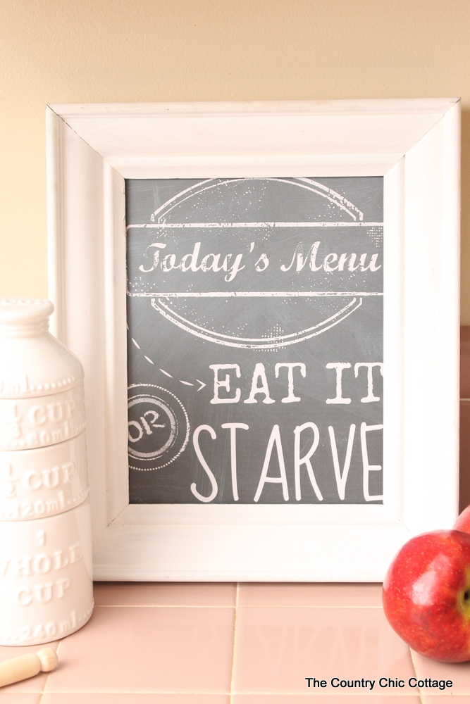 Todays Menu Kitchen Art Printable By The Country Chic