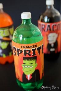 printable halloween soda bottle labels