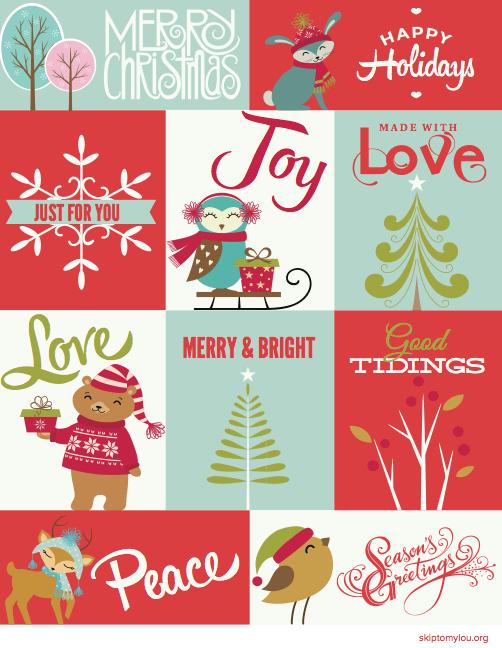 Free Christmas Printable Gift Tags Skip To My Lou