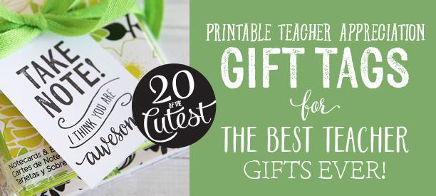 Printable Teacher Appreciation Gift Tags Skip To My Lou