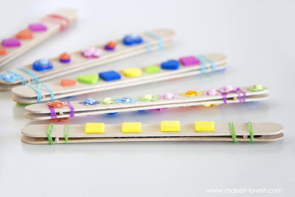 DIY Craft Stick Harmonica Kids Activity Skip To My Lou