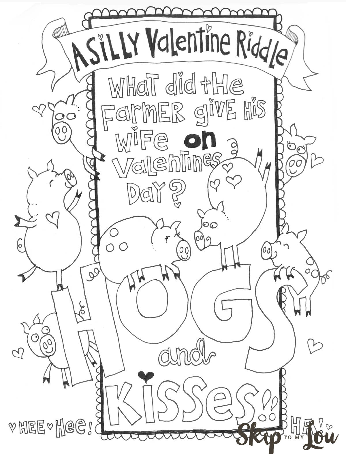 The Cutest Valentines Coloring Pages