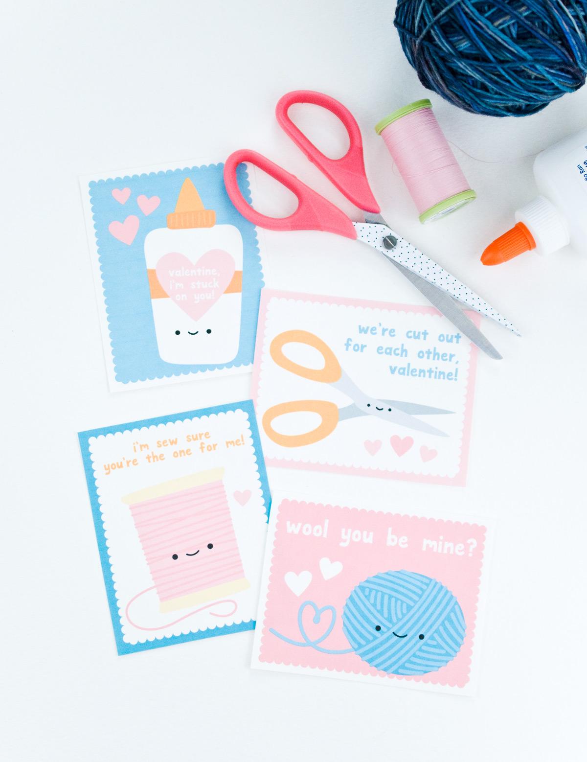 Super Cute Crafty Printable Valentines