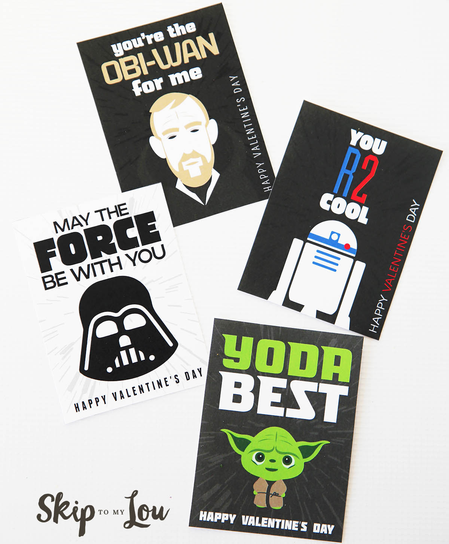 The BEST Free Printable Star Wars Valentines So Cool