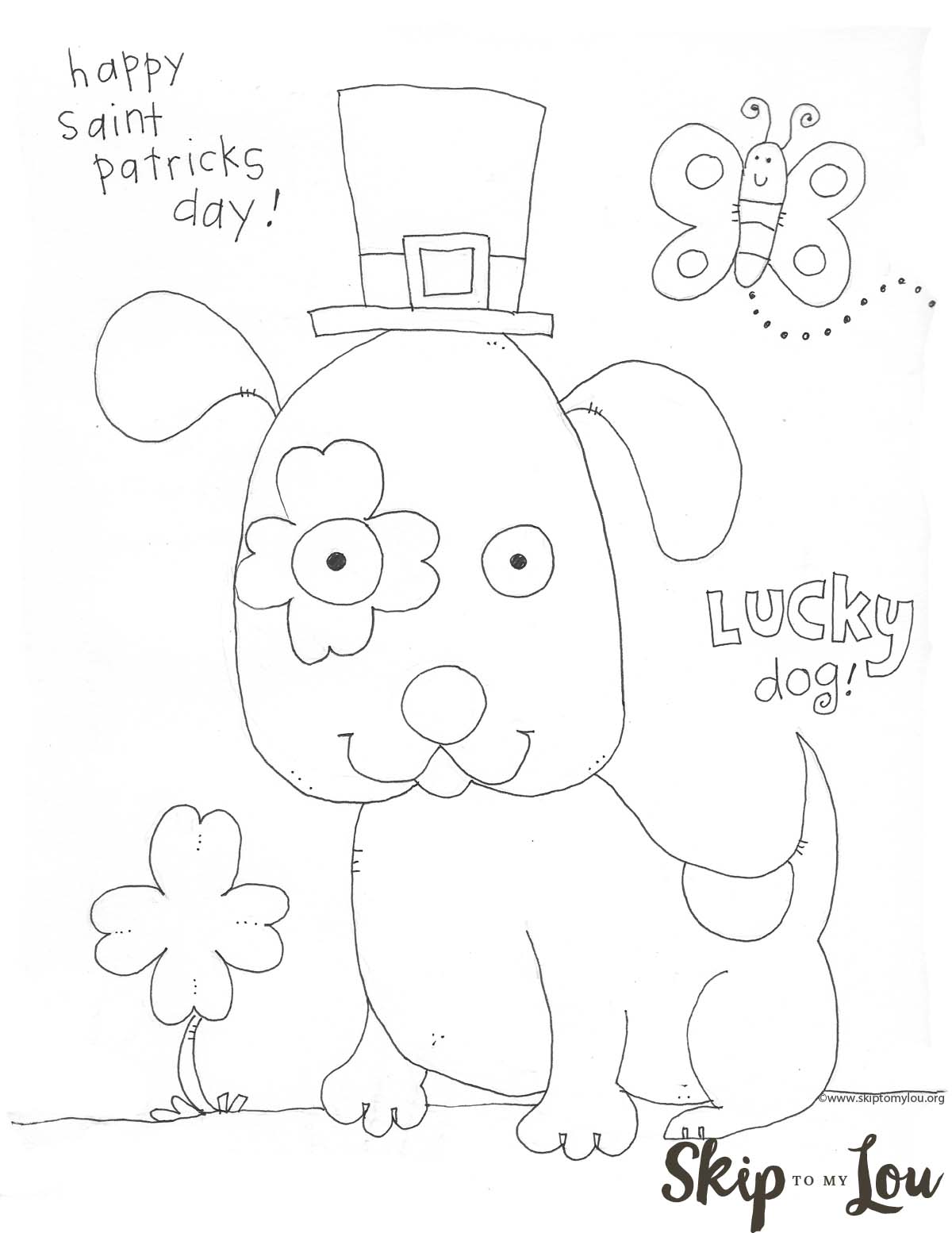 St Patricks Day Coloring Page For Preschoolers