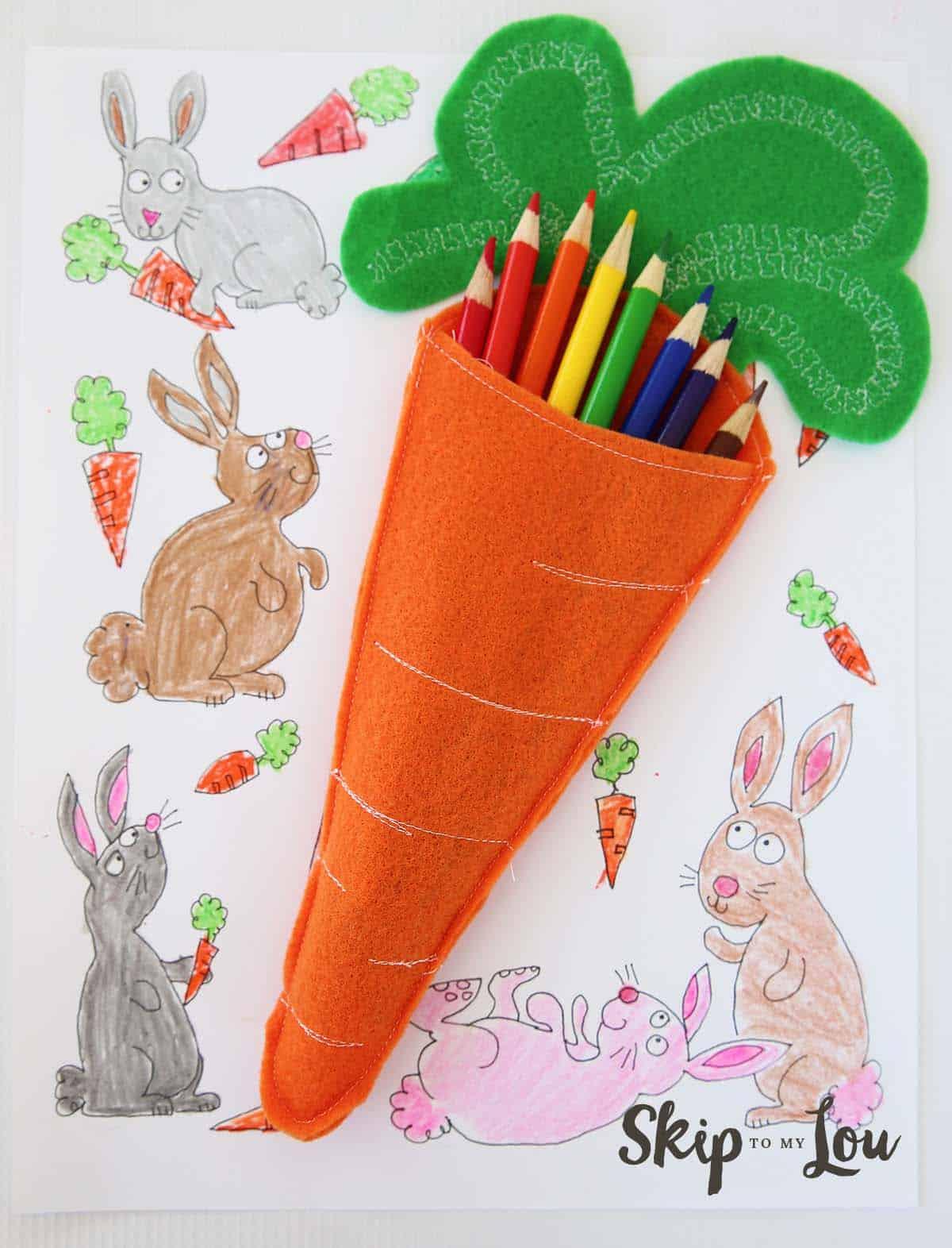 Felt Carrot Pencil Holders Skip To My Lou