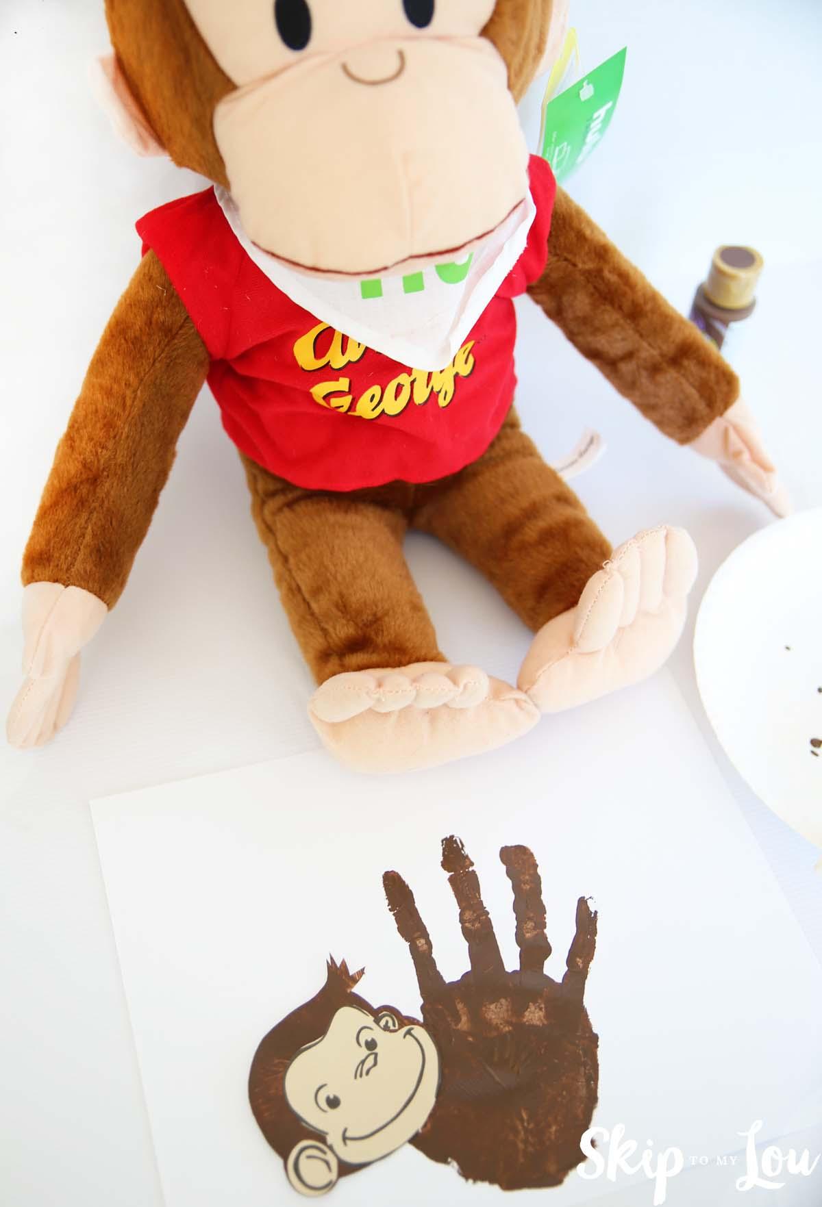 Curious George Handprint Monkey Craft