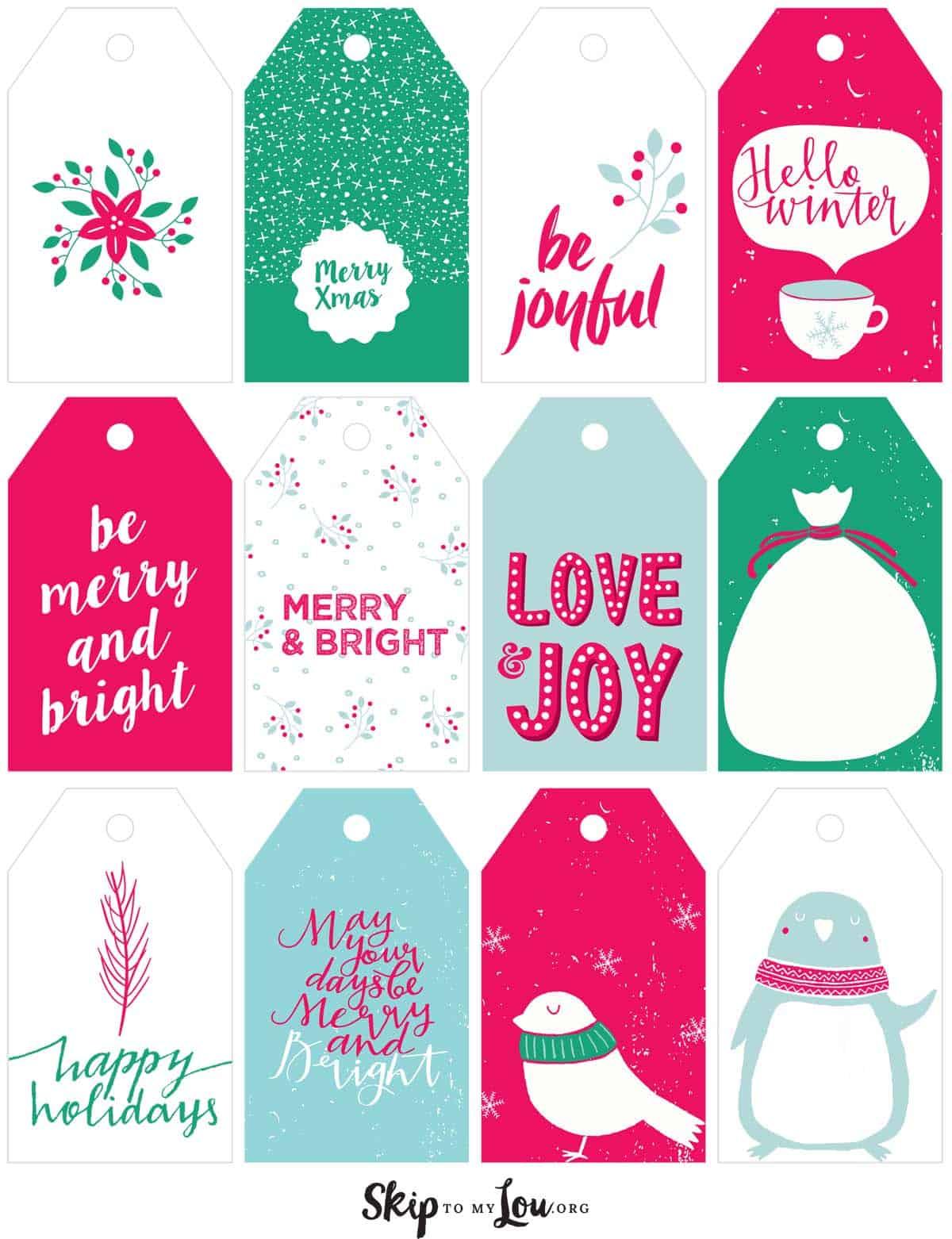 Printable Christmas T Tags