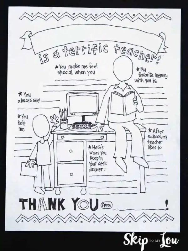 teacher appreciation coloring pages # 9