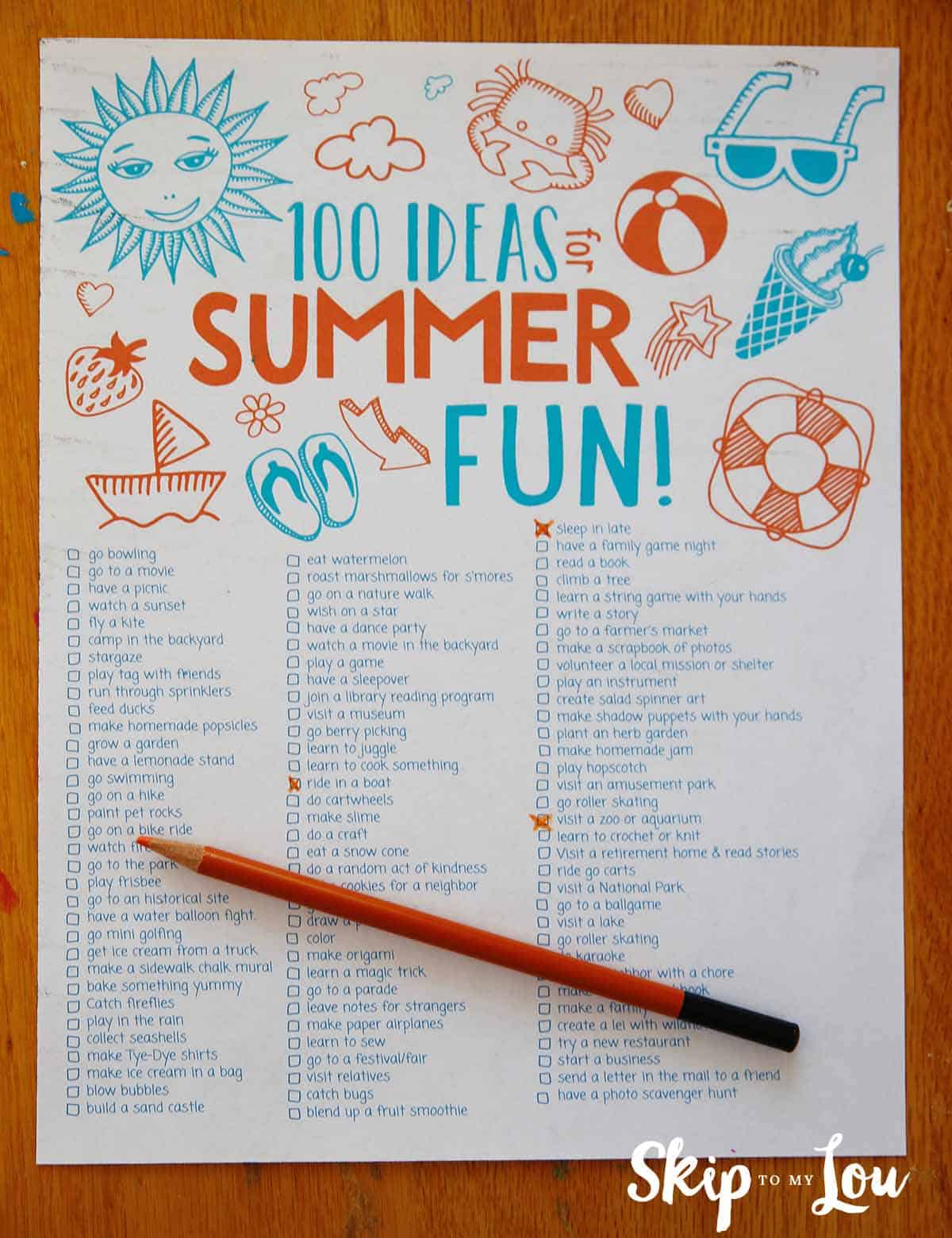 100 Fun Summer Activities For Kids