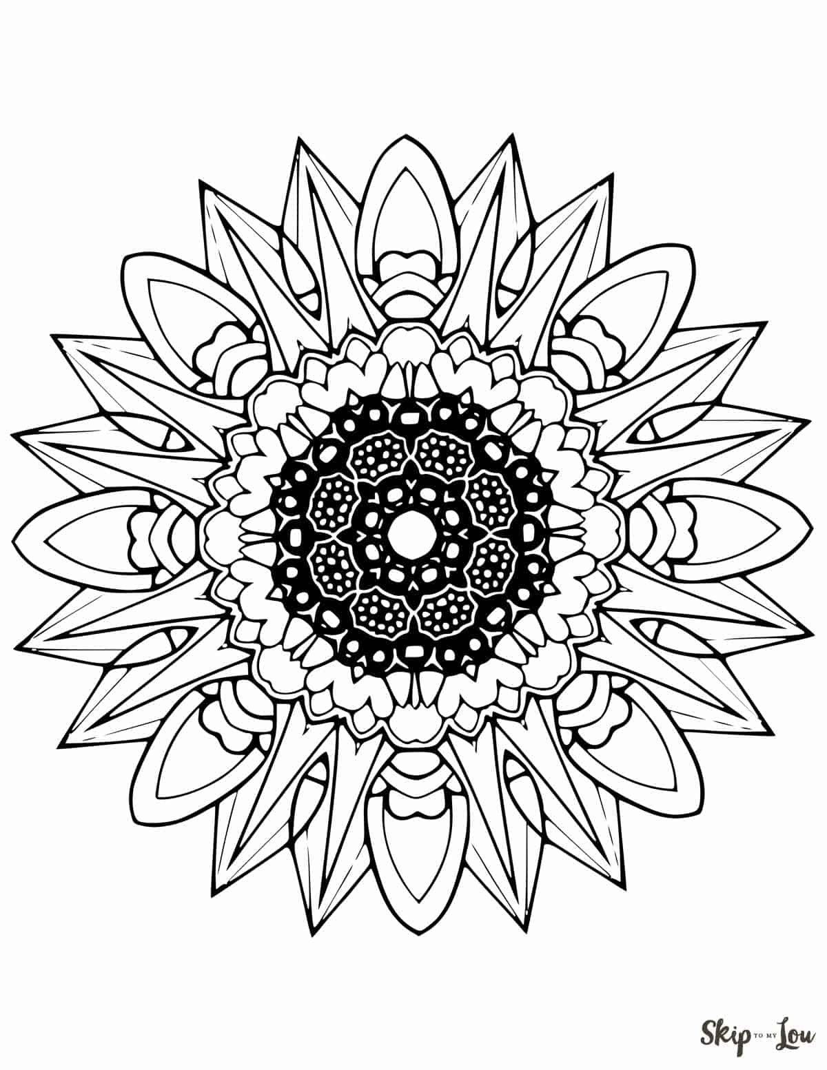Color Your Stress Away With Mandala Coloring Pages | Skip ... | free coloring pages mandalas