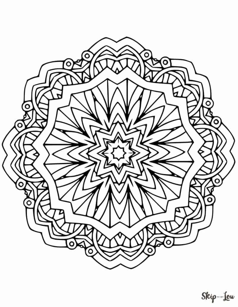 Beautiful FREE Mandala Coloring Pages | Skip To My Lou | free printable coloring pages mandalas