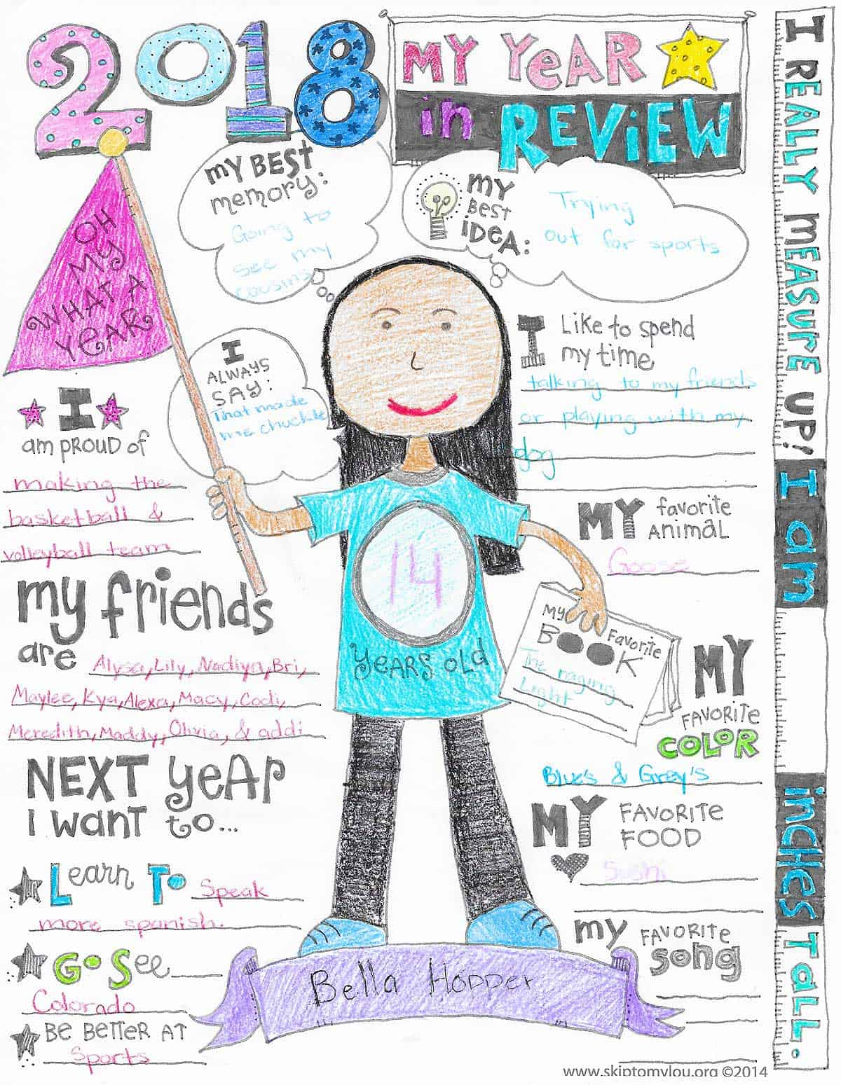 The Year In Review Coloring Page Updated