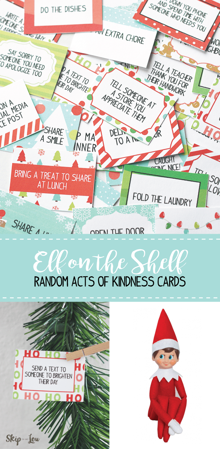Elf On The Shelf Printable Kindness Cards Skip To My Lou