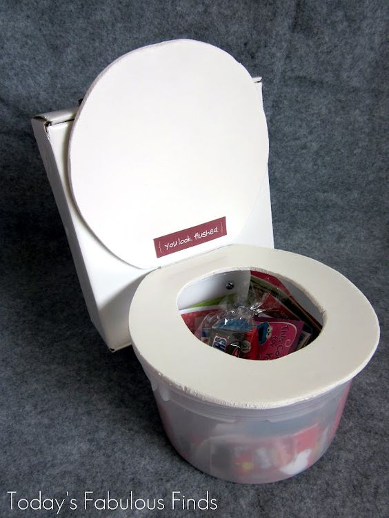 toilet valentine box