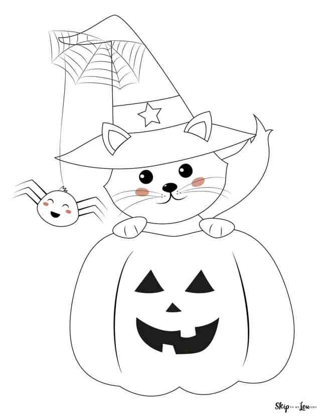 Cute Halloween Coloring Pages to print and color!  Skip To My Lou