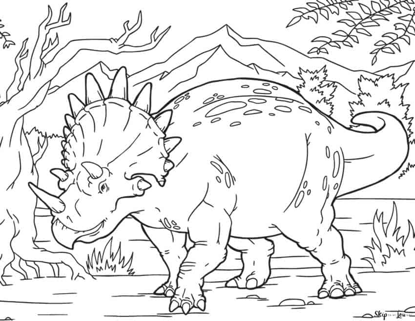 Dinosaur Coloring Pages Skip To My Lou
