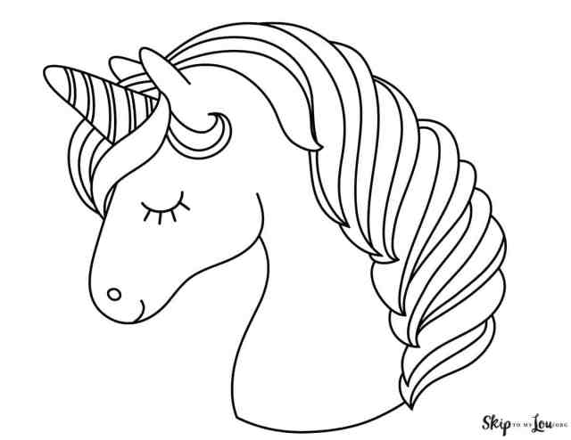 25 Magical Unicorn Coloring Pages Print for Free  Skip To My Lou