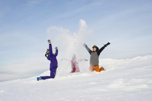Bedste sneforhold i ti år i Sverige