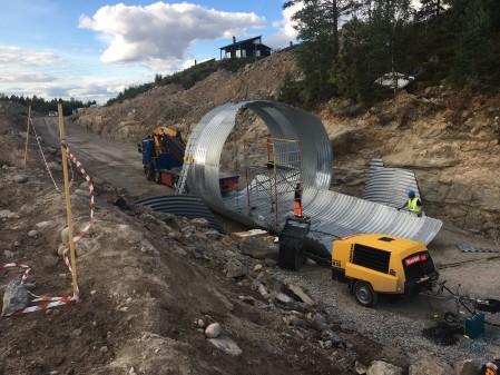 Der bygges ny tunnel i Branäs