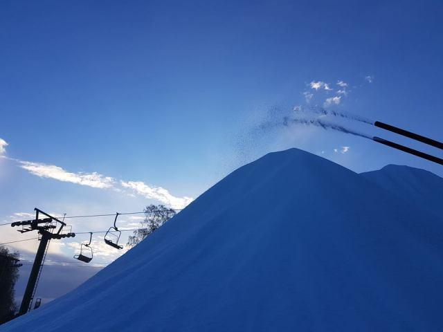 Vallåsen producerer sne. Forventer at åbne midt i december