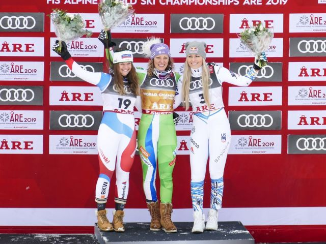 Lindsay Vonn sagde farvel med VM- bronzemedalje