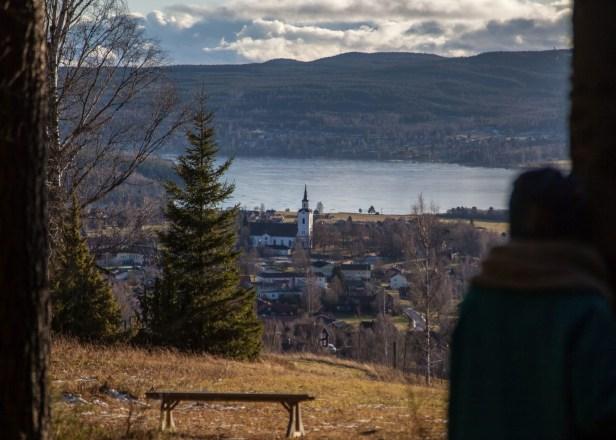 Utsikt från Naturstigen i Naturum Dalarna