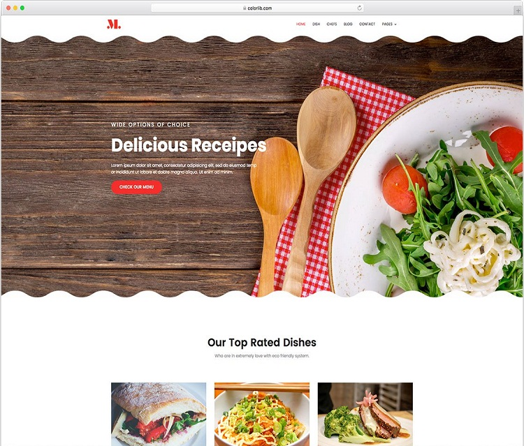 restaurants website theme