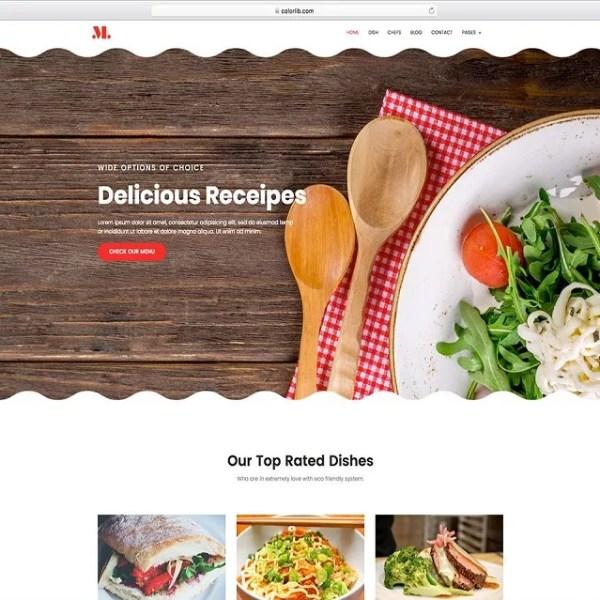 restaurants website theme
