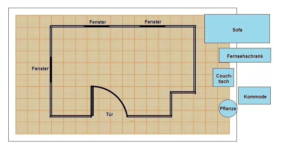 einen grundriss zeichnen so geht s vorlagen zeichnungen und anleitungen. Black Bedroom Furniture Sets. Home Design Ideas